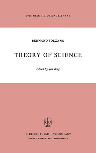 9789027702487: Theory of Science: A Selection, with an Introduction (Synthese Historical Library)