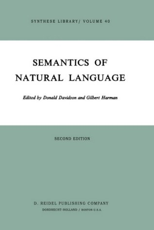 9789027703040: Semantics of Natural Language (Synthese Library)