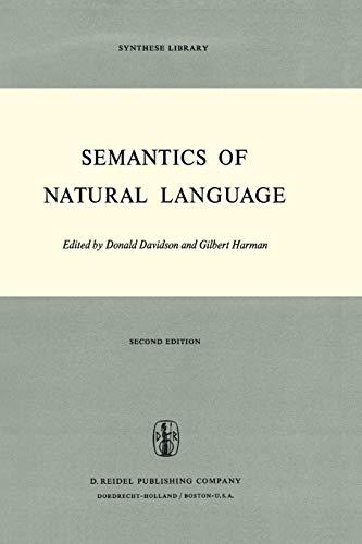 9789027703101: Semantics of Natural Language (Synthese Library)