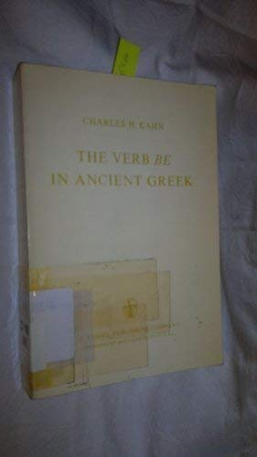 9789027703132: Ancient Greek: Philosophical and Grammatical Studies Part VI: the Verb `be' in Ancient Greek (Foundation of Language Supplementary Series)