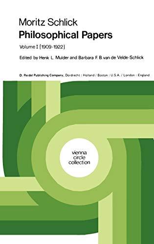 Moritz Schlick Philosophical Papers: Moritz Schlick