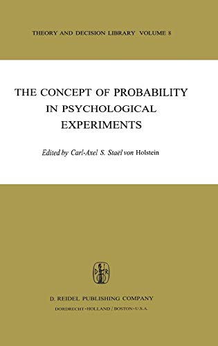 9789027705235: The Concept of Probability in Psychological Experiments (Theory and Decision Library)