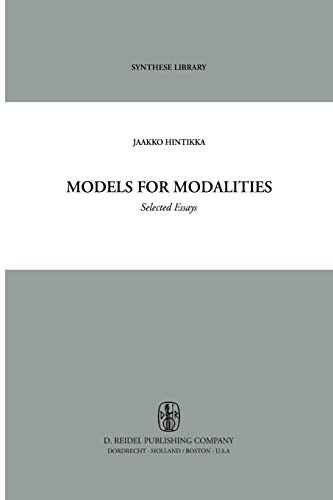 Models for Modalities: Selected Essays (Synthese Library): Jaakko Hintikka