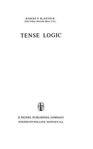 9789027706973: Tense Logic (Synthese Library)