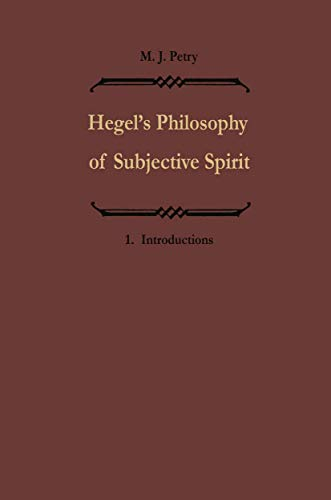 9789027707154: Hegels Philosophie des subjektiven Geistes / Hegel's Philosophy of Subjective Spirit: Band I / Volume I