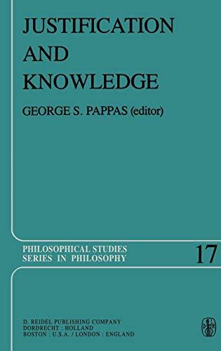 9789027710239: Justification and Knowledge: New Studies in Epistemology (Philosophical Studies Series)