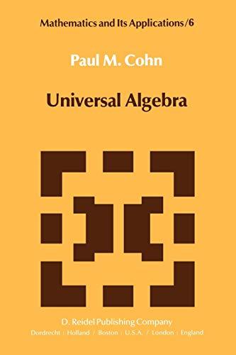 9789027712547: Universal Algebra (Mathematics and Its Applications)