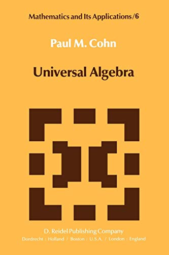 9789027712547: Universal Algebra (Mathematics and Its Applications)