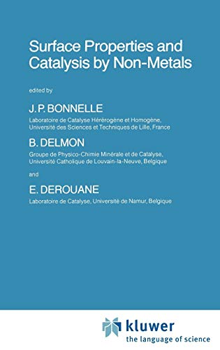 9789027716071: Surface Properties and Catalysis by Non-Metals (Nato Science Series C:)