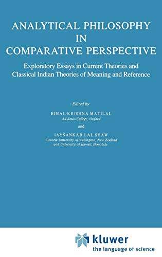 Analytical Philosophy in Comparative Perspective: Jaysankar Lal Shaw