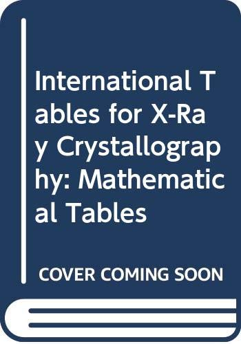 9789027719560: International Tables for X-Ray Crystallography: Volume II: Mathematical Tables