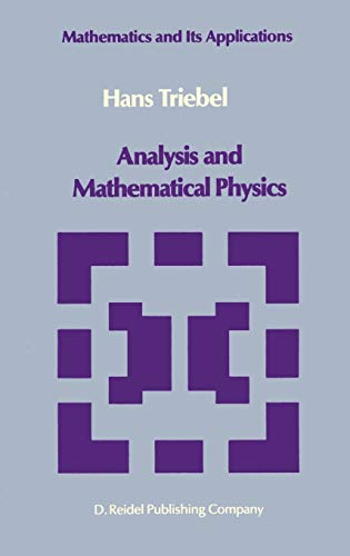 Analysis and Mathematical Physics: Triebel, Hans