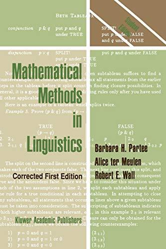 9789027722454: Mathematical Methods in Linguistics (Studies in Linguistics and Philosophy)