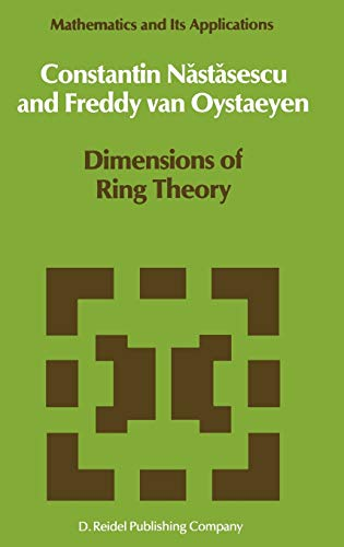 9789027724618: Dimensions of Ring Theory (Mathematics and Its Applications)