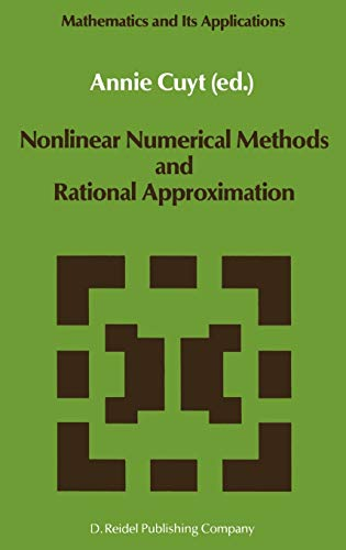 Nonlinear Numerical Methods and Rational Approximation (Mathematics and Its Applications): Springer