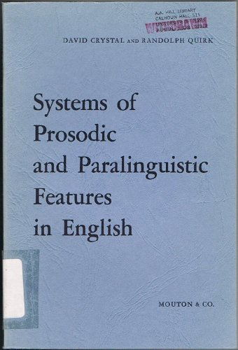 9789027905741: Systems of Prosodic and Paralinguistic Features in English