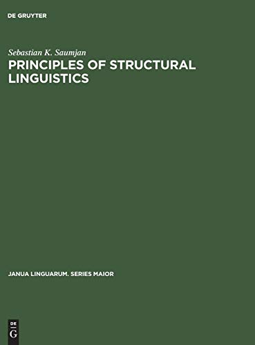 Principles of structural Linguistics Translated from the Russian.