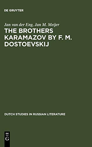 9789027917584: The Brothers Karamazov by F. M. Dostoevskij (Dutch Studies in Russian Literature)