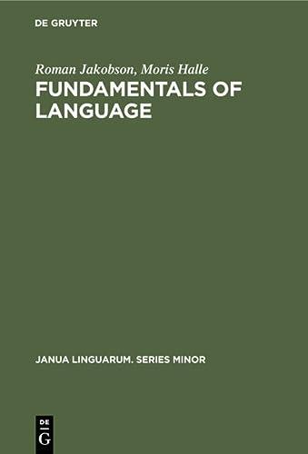 Fundamentals of Language: Jakobson, Roman