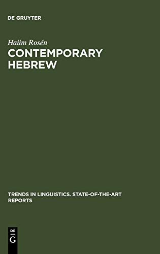 9789027931061: Contemporary Hebrew (Trends in Linguistics. State-Of-The-Art Reports)