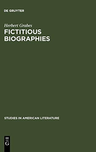 9789027933454: Fictitious Biographies: Vladimir Nabokov's English Novels (Studies in American Literature)