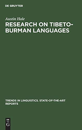 9789027933799: Research on Tibeto-Burman Languages (Trends in Linguistics)