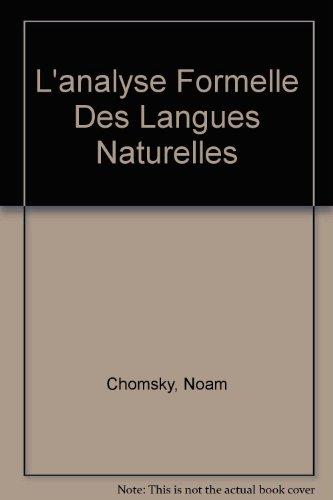 9789027967961: L'analyse Formelle Des Langues Naturelles