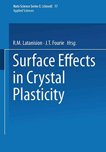 9789028600669: Surface Effects in Crystal Plasticity (Nato Science Series E:)