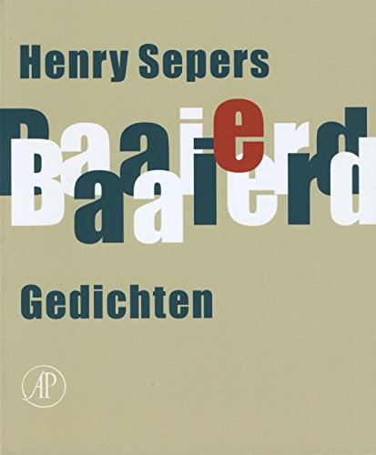 Baaierd. Gedichten.: SEPERS, HENRY.