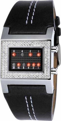 9789030410515: The One - KTL502R1 - Kerala Trance - Montre Femme - Quartz Led - Cadran Noir - Bracelet Cuir Noir