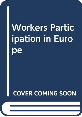 9789031200436: Workers Participation in Europe