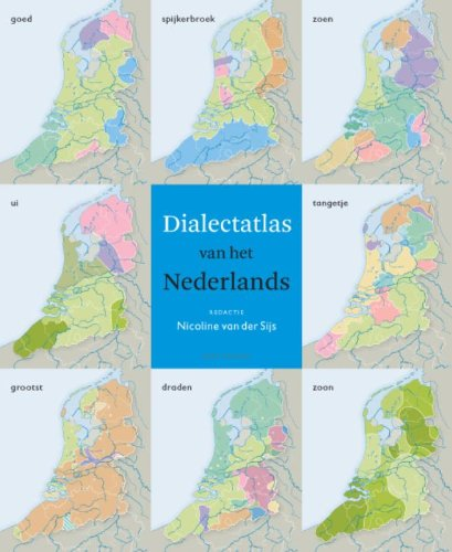 Book cover - white and black title on blue banner, collage of colorful maps