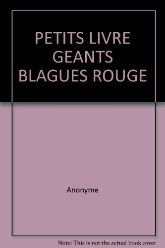 Petits livres g?ants - rouge blagues (300): Anonyme