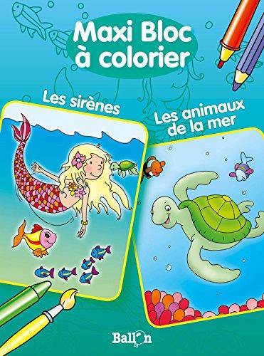 9789037494327: MAXI BLOC A COLORIER LES ANIMAUX DE LA MER / LES SIRENES