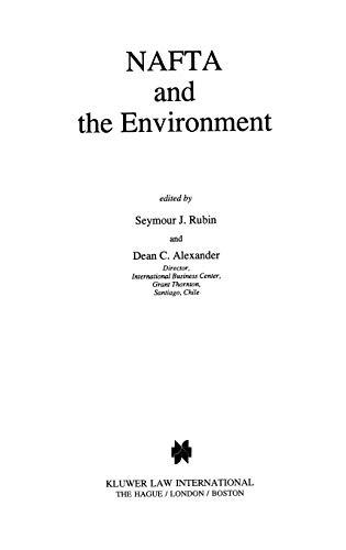 NAFTA and the Environment (Hardback)