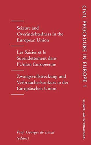 Seizures and Overindebtedness in the European Union (Hardback)