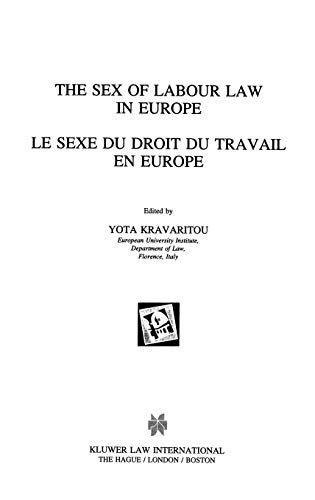 The Sex of Labour Law in EUrope: Kravaritou, Yota