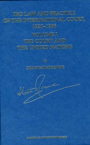 9789041102645: The Law and Practice of the International Court, 1920-1996