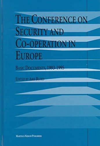 The Conference on Security and Co-Operation in Europe: Basic Documents, 1993-1995 (Hardback)