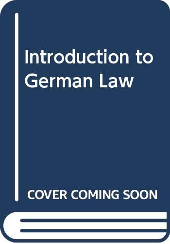9789041105158: Introduction to German Law