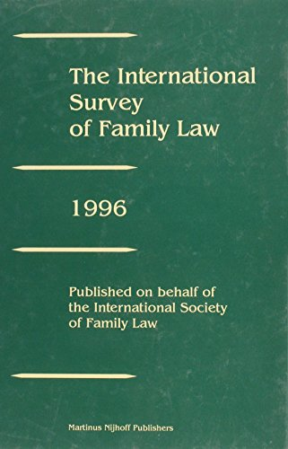 The International Survey of Family Law, Volume 3 (1996) 1996 (Hardback)