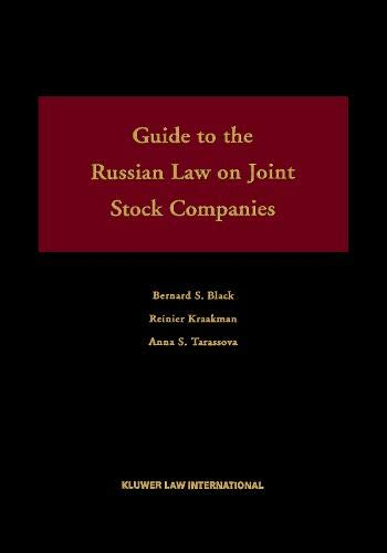Guide To the Russian Federal Law on: Black, Bernard S.;