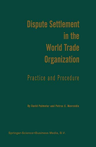 9789041106346: Dispute Settlement in the World Trade Organization: Practice and Procedure