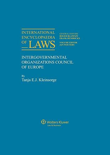 9789041107756: International Encyclopaedia of Laws: Intergovernmental Organizations