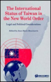 9789041109293: International Status of Taiwan in the New World Order:Legal and Political Considerations