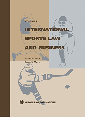 International sports law and business: Aaron N. Wise
