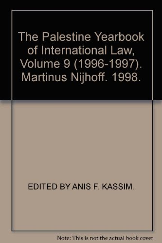 The Palestine Yearbook of International Law 1996-1997 (Hardback): Anis F Kassim