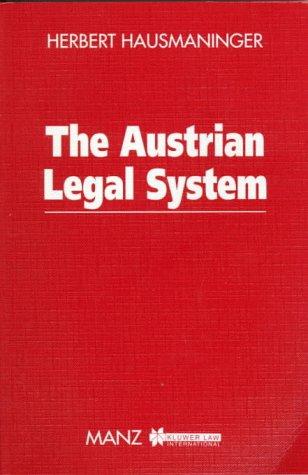 9789041110145: The Austrian Legal System