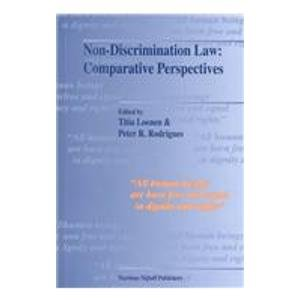 9789041110633: Non-Discrimination Law: Comparative Perspectives