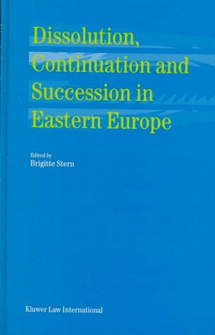 Dissolution, Continuation and Succession in Eastern Europe (Hardback)
